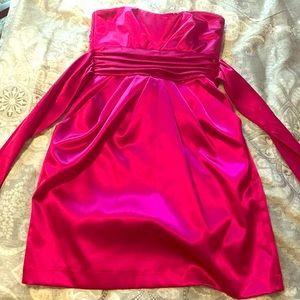 Fuscia tuxedo-style party/cocktail dress. Size 3.
